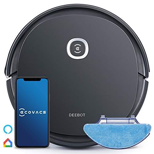 ECOVACS DEEBOT U2 PRO Saugroboter mit Wischfunktion (OZMO), Staubsauger Roboter Tierhaare, 150 Minuten, Max+ Modus, Alexa, schwarz