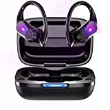 Bluetooth 5.1 Headset Wireless Bluetooth Headset Noise Reduction Stereo Sports Waterproof Headset Hands-Free with Microphone Bluetooth Headset (Black)