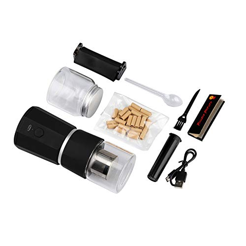 LTQ Vapor MANGLER Electric Herb Grinder Set, USB-Rechargeable 1100mAh Black