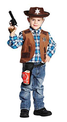 Rubies NEU Kinder-Kostüm Sheriff-Weste, braun, Gr. 116