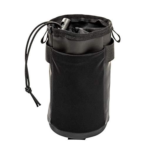 Abaodam Manillar de bicicleta Soporte de almacenamiento Mango Bar Botella de agua Bolsa de cuero PU Bolsa de almacenamiento para exterior (negro)