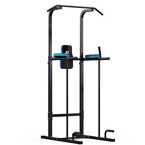 JX FITNESS ぶら下がり健康器具 懸垂マシン 懸垂器具 筋力トレーニング 室内 パワータワー腹部運動ホームジムタワーボディービル