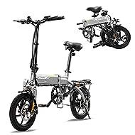 HITWAY Electric Bike, E Bike City bikes Folding Bike Bicycle Made of Aerospace Aluminum, 7.5Ah Batte...