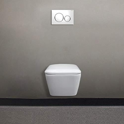 Geberit Hänge-WC – Geberit – Hänge-WC ohne Flansch ICON Square verkleidet mit Soft-Close Deckel – Geberit