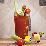 "EYE CATCHING: Featured on the ""TODAY"" Show! Decorate in style, perfect for tall drinks like a Bloody Mary or Mojito! And not your typical ""straight"" pick. The unique design for these multi-pronged picks is the best way to create fancy garnish creatio..."