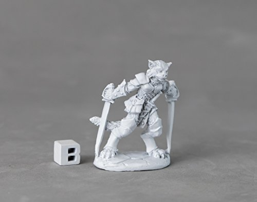 Reaper Miniatures 03894 Shadoweyes, Catfolk Rogue, Metal Miniature