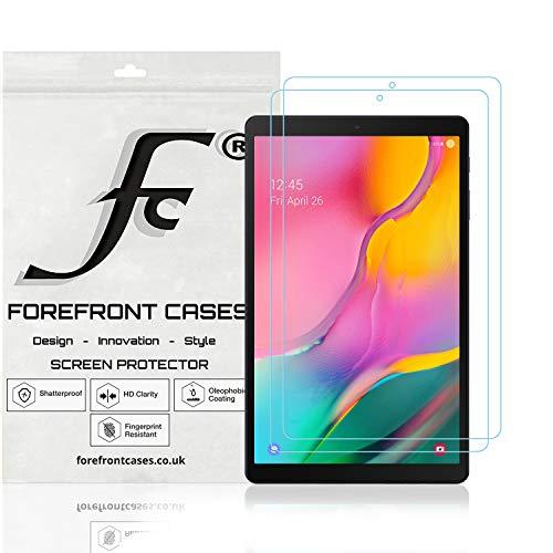 Forefront Cases Protector Pantalla para Samsung Galaxy Tab A 10.1 2019 [2 Piezas] Lámina Protectora en Tereftalato de Polietileno Pet Ultra Duro y Delgado 0,1 mm | Anti Rayas Polvo Alta Transparencia
