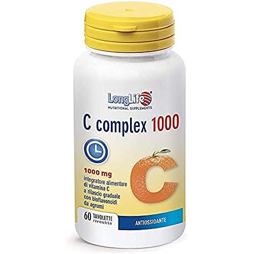 C COMPLEX 1000 LongLife | Integratore con bioflavonoidi da agrumi | Rilascio Graduale | Funzione immunitaria | Riduzione stanchezza e affaticamento | Doping Free