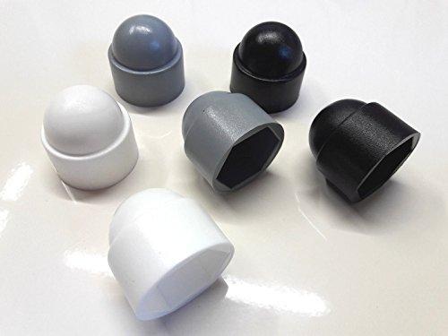 20 Stück Schutzkappe für Schraube M10 (Schlüssel 17) Grau