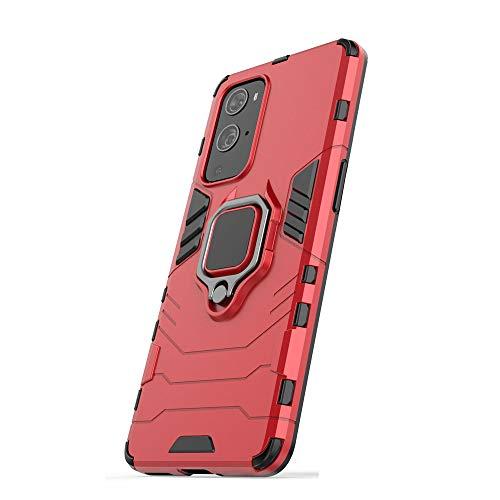 Funda para Samsung Galaxy M62, RonRun Carcasa de PC + TPU Antigolpes Anticaídas Antiarañazos con Anillo Giratorio para Soporte Magnético de Coche, Case Compatible con Samsung Galaxy M62 Rojo