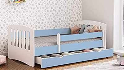 Toddler Bed Kids Bed Children's Single Bed with Mattress and Underbed Drawer Included - Classic | Perfect for Boys and Girls | Eco Paints Used | Maximum Safety | Up to 120 KG!