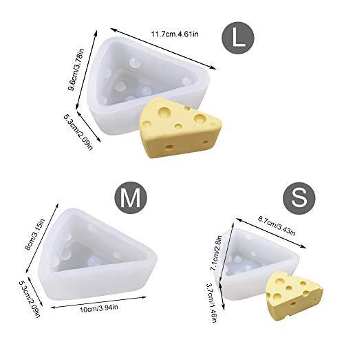 Lo stampo è realizzato in silicone ambientale di alta qualità, sano e maneggevole. 3 pezzi S, M, L. forma interessante del formaggio. Ha portato sorprese alla vita della cucina familiare. È insapore, atossico, antipolvere, resistente, impermeabile e ...