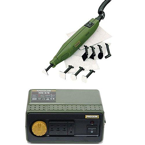 Proxxon 28594 PS 13 12V Electric Pen Sander, Proxxon 38704 NG 5/E Transformer