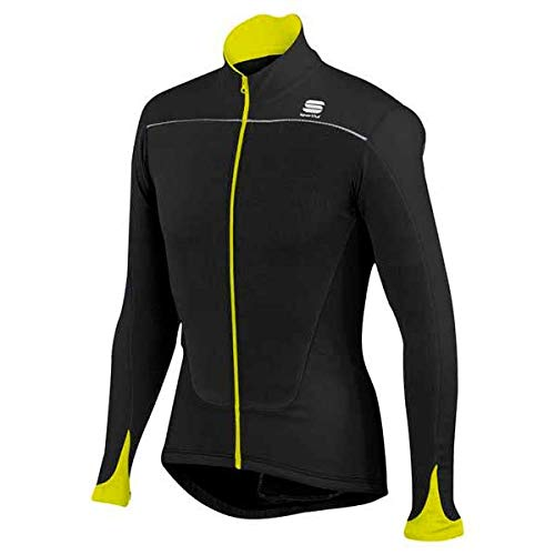 Maillot Sportful Force Thermal Negro-Amarillo 2017