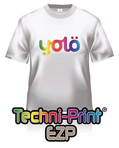 yolö creative 10 x fogli a4 di trasferimento techni-print® ezp laser termico carta t-shirt/trasferimenti