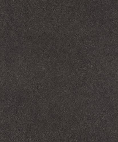 rasch Tapete 860160 aus der Kollektion b.b home passion VI – Einfarbige Vliestapete in Grau mit körniger Struktur – 10,05m x 53cm (L x B)