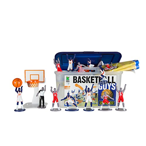 Kaskey Kids Basketball Guys – Inspires Imagination with Open-Ended Play – Includes 2 Full Teams and More – For Ages 3 and Up