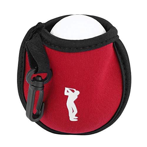 VGEBY Sac de Balle de Golf, Pochette de Balle de Golf Sac de Rangement pour Balle de Golf Sac de Rangement pour Balle de Golf Mini(Rouge)