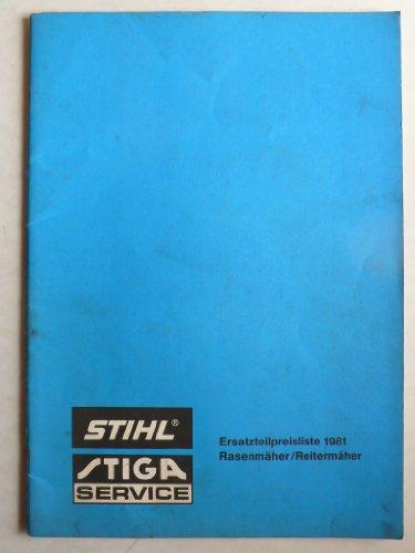 TIGA Stihl Rasenmäher/Reitermäher – Ersatzteilpreisliste