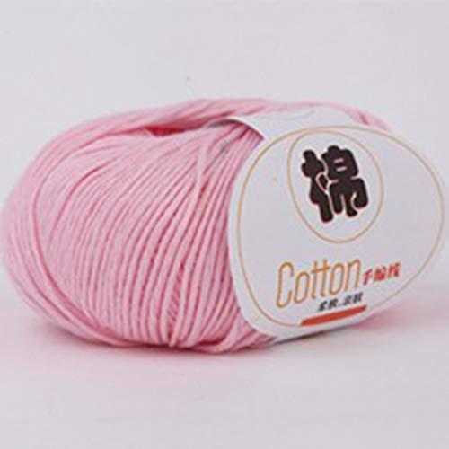 RHNE Hilo de algodón de Leche Peinado para bebé Hilo Mezclado de Lana Hilo de Coser para Ropa para bebé Rosa