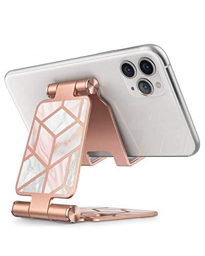 i-Blason Support Téléphone Réglable Pliable Portable en Aluminium Dock Bureau, Compatible pour Smartphones (Marbre)