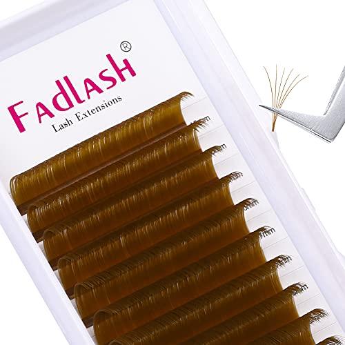 Extensiones de Pestañas de Colores Espesor Easy Fan Lashes 0.07 D Curl 20-25mm Marrón Suave Volumen Natural Extensiones de Pestañas Espesor Easy Fan Lashes