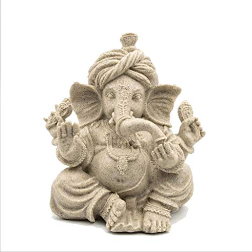 JPVGIA Adornos Tallados Estatua de Buda Decoración Hecho a Mano Resina Elefante Indio Cabeza Dios Sudeste Elefante Dios Artesanía