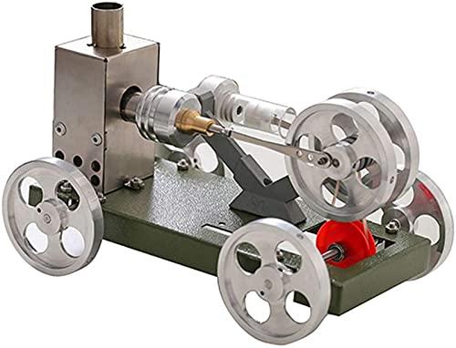 JJDSN Modelo de Bricolaje Motor de Juguete Modelo de Motor de Coche Modelo en Miniatura tecnología de energía de Vapor Potencia científica Modelo de Juguete Experimental Modelo de Motor de Coc