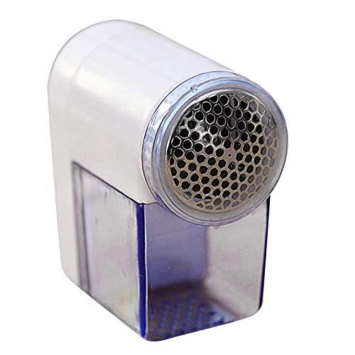 TinaDeer Mini-Fusselrasierer, Tragbarer Elektrischer Flusenentferner, für Kleidung/Strickwaren/Wolle/Möbel/Bettwäsche/Spielzeuge, 7×3.5×7cm, installiert mit 2 AA-Batterien (Weiß)