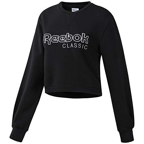Reebok Classics 4061626195095 Sweater, Negro/Blanco, L Womens