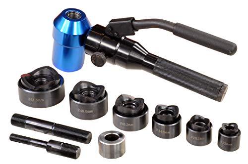 Pro-Lift-Werkzeuge Lochstanze Set hydraulisch, externe Pumpe, Blechlocher Max. Druckkraft: 6 t, Lochform 22,5 mm – 61,5 mm