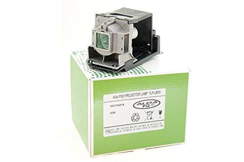 Alda PQ-Premium, Lámpara de proyector Compatible con TLP-LW15, 75016600, TLPLW15LAMP para Toshiba TDP-EW25, TDP-EW25U, TDP-EX20, TDP-EX20U, TDP-EX21 Proyectores, lámpara con Carcasa