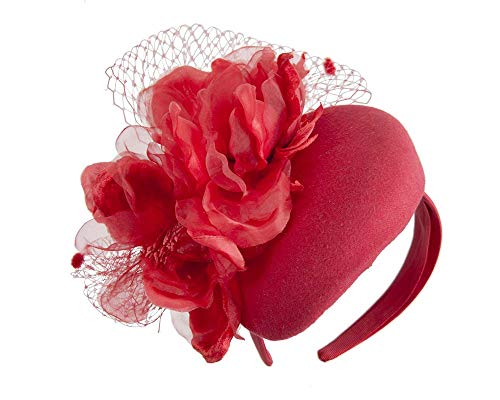 Fillies Collection Red Pillbox with Large Flower by