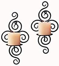 1 pcs Home Candlestick Holders Handmade Iron Hanging Wall Sconce Candle Holder Shelf Furnishing Articles Decoration Durable