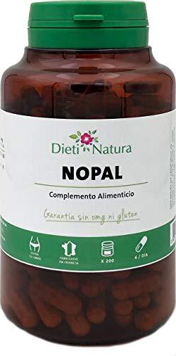 Nopal 200 cápsulas de Dieti Natura [Absorbe azúcares y grasas][Fabricado en Francia] (200 cápsulas)