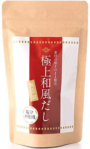 【無添加 食塩不使用】5種天然素材のだしパック 7g×30パック / 国産 無塩