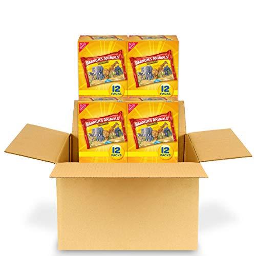 Barnum's Original Animal Crackers, 4 Boxes of 12 Snack Packs (48 Total Snack Packs)