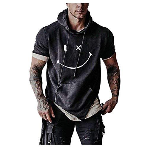 YSYOkow Sudadera de entrenamiento para hombre con capucha atlética, sudadera con capucha para hombre