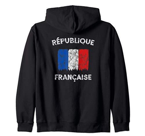 Französische Flagge (Vintage) - Frankreich Kapuzenjacke