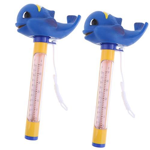 HomeDecTime 2 Teile/Satz Pool & Spas Thermometer Schwimm Wassertemperatur Mit Seil Wal