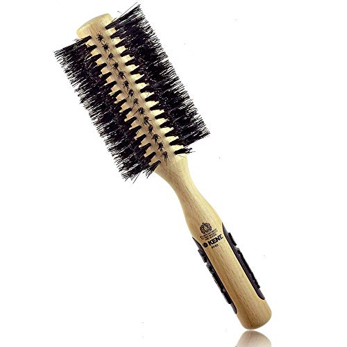 "Kent PF03 Round Curling Brush with Hard Natural Boar Bristle - Hair Drying Brush, Round Hair Brush, and Blowout Brush - Small Round Brush for Dry Hair - For Shoulder Length or Shorter Hair (1.8"" Head)"