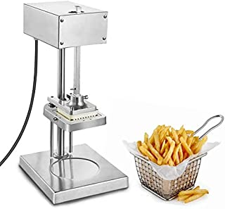 KUNHEWUHUA Electric French Fry Potato Cutting Machine Commercial Multi-function Fruit & Vegetable Cutter Machine Stainless Steel with 3 size of Knives (110-120V USA plug)
