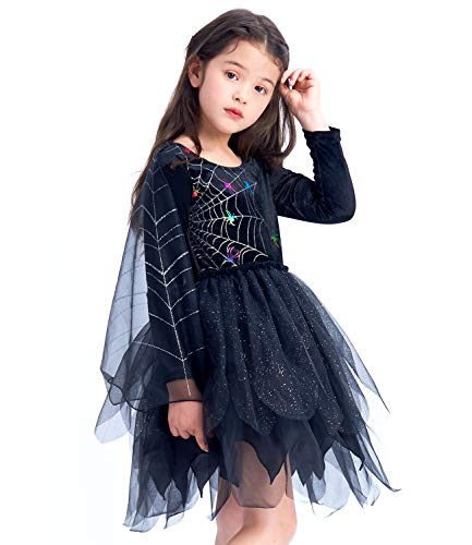 Girls Witch Costume, Classic Halloween Fancy Dress Up Outfit