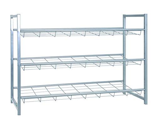 Haku-Möbel 38717 Schuhregal, Silber, 80 x 30 x 60 cm