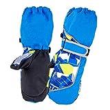 Azarxis Manoplas de Invierno Niños Calientes Térmicas Nieve Guantes para Snowboard Esquí Acampar al Aire Libre (Azul, S (7-9 años))