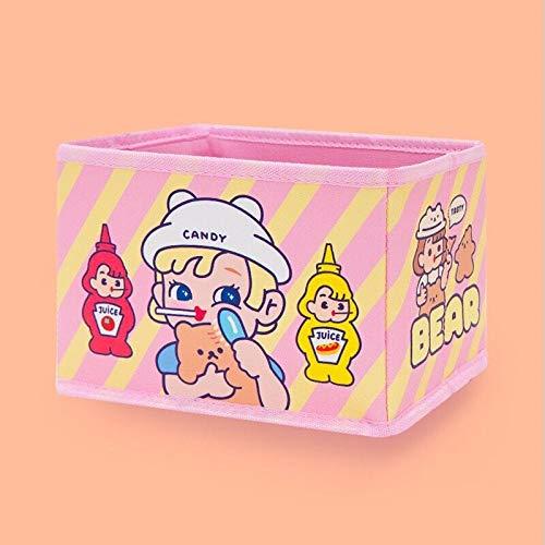 Cosmetic Bag Kawaii Storage Case Box Girls for Home Storage Organizer Function Case Pouch 18X13x11CM-Pink_Bear_18X13x11CM