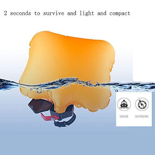 HWHSZ Lebensrettendes Armband Schwimmrettungsarmband Anti-Ertrinkungs-Wasser-Selbsthilfe-Artefakt Aufblasbares Airbag-Armband UnterwasserausrüStung