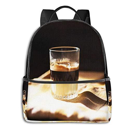 Rucksack Freizeit Damen Herren, Kaffee Kondensmilch Campus Kinderrucksack, Daypack Schulrucksack Sportrucksack Tablet Tasche 15,6 Zoll