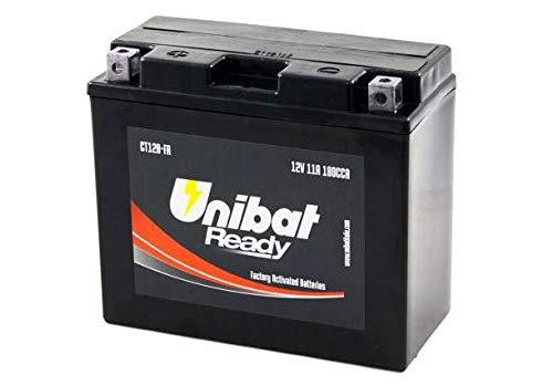 YT12B-BS Batteria Moto Completa di Acido Pronta all'Uso UNIBAT READY CT12B-FA
