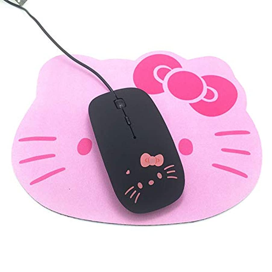 Pink Hello Kitty USB Wired Cable Mouse Girl Lovely Cartoon Mouse 1200DPI Optical KT Cat Mice for Computer PC Laptop